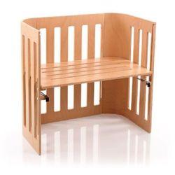 Tobi babybay  łóżeczko dostawne trend, lite drewno bukowe lakierowane, kolor naturalny, kategoria: łóżeczka i kołyski