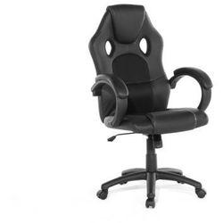 Beliani Krzesło biurowe czarne - obrotowe - skóra ekologiczna - rest