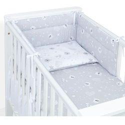 MAMO-TATO 3-el dwustronna pościel dla niemowląt 70x140 Miśki szare / miśki na szarym