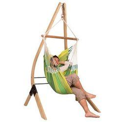 Zestaw hamakowy: fotel hamakowy Orquidea ze stojakiem Vela, zielony ORC14VEA13