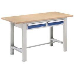 Stół warsztatowy, szer. blatu 1500 mm, blat z multipleksu, 2 szuflady. solidne w marki Quipo