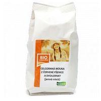 Mąka z czerwonej pszenicy i pszenicy płaskurki razowa bio marki Bio harmonie