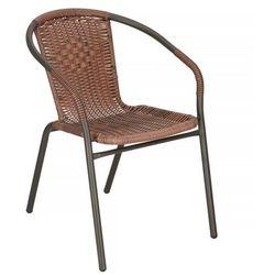 Springos Krzesło ogrodowe metalowe na balkon brązowe (5907719417400)
