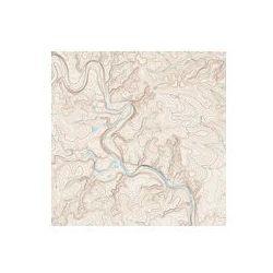 Foto naklejka samoprzylepna 100 x 100 cm - Mapa topograficzna - produkt dostępny w FOTAKO