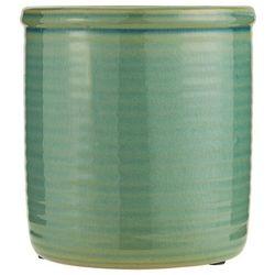 Ib Laursen - Doniczka ceramiczna szkliwiona zielona wysoka