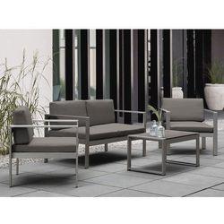 Sofa ogrodowa aluminium 2-osobowa ciemnoszare poduchy SALERNO (7105274858869)