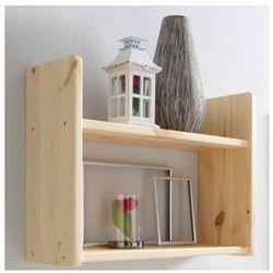 Ticaa regał ścienny, drewno sosnowe, kolor naturalny, dwie półeczki, wąski wyprodukowany przez Ticaa kindermöbel