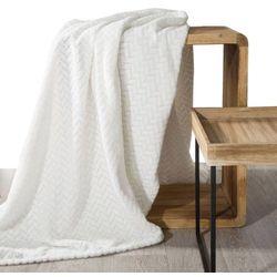 Koc narzuta na fotel CINDY 70x160 kremowy