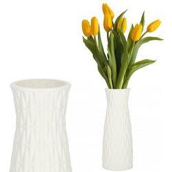 Wazon 21cm nietłukący na kwiaty do salonu, kuchni biały nowoczesny (5907719419138)