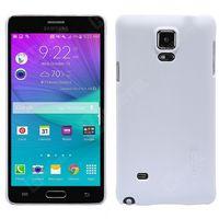 Nillkin Frosted Shield etui Samsung Galaxy Note 4 białe + folia ochronna - Biały (Futerał telefoniczny)