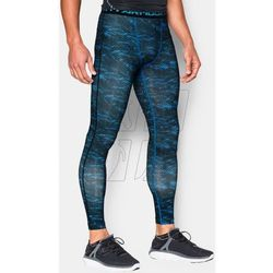 Spodnie kompresyjne Under Armour HeatGear® Armour Printed Compression Leggings M 1258897-428, rozmiar S, nieb