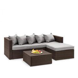 Blumfeldt theia lounge ogrodowy zestaw wypoczynkowy brązowy / jasnoszary (4060656193859)