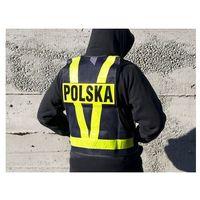 Kamizelka siatkowa z pasami na plecach napis polska marki Biketec