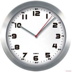 Zegar ścienny aluminiowy, 29,5cm z białą tarczą MPM E01.2482
