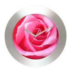 Zegar ścienny aluminiowy Róża