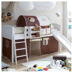 Ticaa łóżko ze zjeżdżalnią ekki sosna white country marki Ticaa kindermöbel
