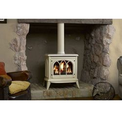 Średni kominek ashdon, kolor - kość słoniowa - ekskluzywny kominek stojacy marki Stovax - dobra oferta