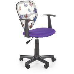 Fotel Spiker - 3 kolory fioletowy kółka do dywanów
