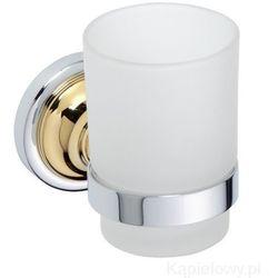 RETRO Kubek szklany chrom-złoto 144210018