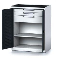 B2b partner Szafa warsztatowa mechanic, 1170 x 920 x 500 mm, 2 półki, 2 szuflady, antracytowe drzwi