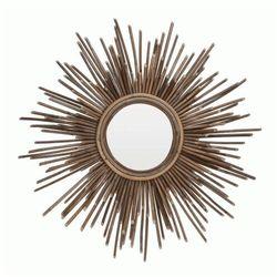 Okrągłe lustro Hokki - drewniane, Lus000077