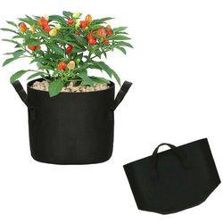 Springos Doniczka materiałowa 10l growbag donica ekologiczna, oddychająca czarna