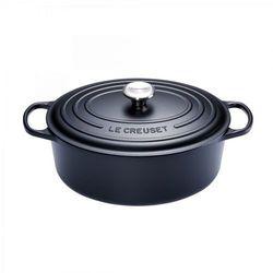 - signature brytfanna żeliwna owalna czarna średnica: 33 cm marki Le creuset