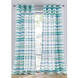 Prześwitująca firana w paski (1 szt.) bonprix biało-niebiesko-zielony, kolor niebieski