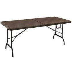 Modernhome Stół cateringowy, bankietowy, ogrodowy, składany, 180cm, brązowy (5903089061588)