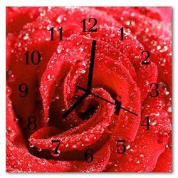 Zegar ścienny kwadrat Róża