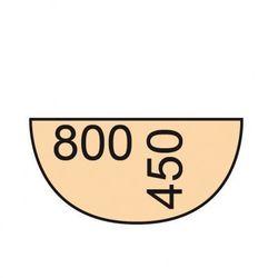 B2b partner Dostawka do stołu biurowego 80 cm, biały/dąb naturalny