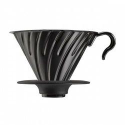 Hario v-60-02 dripper stalowy z silikonową podstawką kolor czarny (4977642726697)