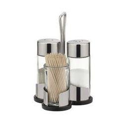 zestaw stołowy sól/pieprz/wykałaczki club marki Tescoma