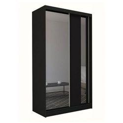 Szafa przesuwna Victoria 2X - czarna lustro, Gracja 150