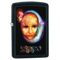 Zippo Zapalniczka  księżycowa twarz, black matte