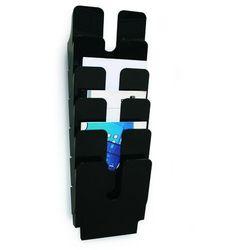 FLEXIPLUS A4 6 pionowych pojemników na dokumenty, kolor czarny DURABLE