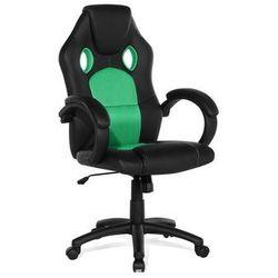 Krzesło biurowe zielone - obrotowe - skóra ekologiczna - REST