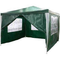 Mks Zielony pawilon ogrodowy 3x3 + 4 ścianki namiot handlowy - zielony
