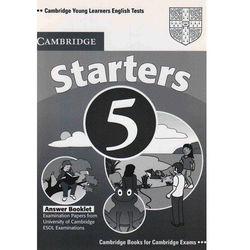 Cambridge Young Learners English Tests Second Edition Starters 5 Answer Booklet, pozycja z kategorii Nauka ję