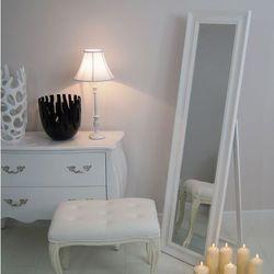 Lustro stojące, biała, drewniana rama. marki Design by impresje24