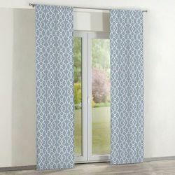 Dekoria zasłony panelowe 2 szt., błękitny w biały marokański wzó, 60 × 260 cm, gardenia