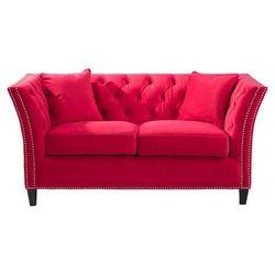 Dekoria Sofa Chesterfield Modern Velvet Raspberry Red 2os., 172 × 87 × 82 cm