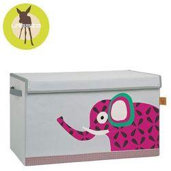 casual label - skrzynia zamykana na zabawki wildlife słoń marki Lassig