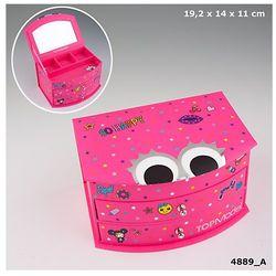 Top Model, szkatułka z lusterkiem, różowa z kategorii Pozostałe artykuły szkolne i plastyczne