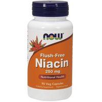 Now Foods Flush-Free Niacin (Niacyna + Inozytol) 250mg 90 kaps. - kapsułki witaminy i minerały