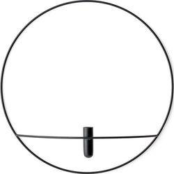 Wazon POV Circle ścienny L, czarny - Menu