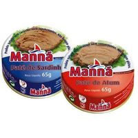 Manná Zestaw 4 - portugalskie pasty z tuńczyka i sardynek 6x65g