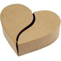 Tekturowe pudełko w kształcie serca 16,5x15 cm marki Creativ