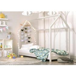 Domek, łóżko do pokoju dla dziecka, bella, drewno, biały, mat marki Kocotkids