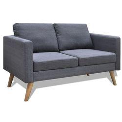 vidaXL Ciemno szara 2 osobowa, materiałowa sofa (8718475941507)